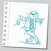 picture of sneak  - Businessman sneaking - JPG