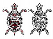 picture of turtle shell  - Vector Turtle tattoo style black and black - JPG