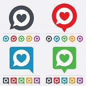 stock photo of bubbles  - Chat sign icon - JPG