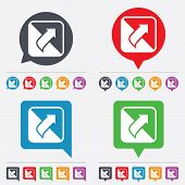 picture of bubble sheet  - Turn page sign icon - JPG