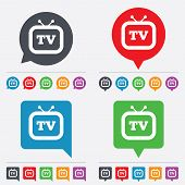 picture of tv sets  - Retro TV sign icon - JPG