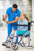 picture of wheelchair  - doctor explaining x - JPG