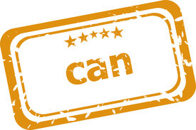 picture of pma  - can on rubber stamp over a white background - JPG