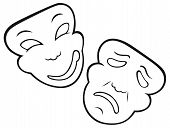 pic of comedy  - Comedy and Tragedy theatrical mask - JPG