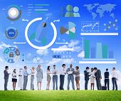 stock photo of globalization  - New Business Chart Innovation Teamwork Global Business Concept - JPG