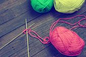 pic of clever  - Knit with ball of wool handmade present for lover with heart material are colorful wool needle with clever of hand can make meaningful gift and pleasure life - JPG