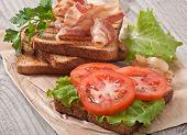 picture of baps  - hot big sandwich - JPG