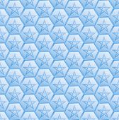 picture of pentagram  - blue pattern seamless with pentagram  - JPG