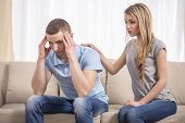 stock photo of conflict couple  - Moral support - JPG
