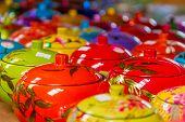 picture of paint pot  - decorated pot - JPG