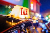 image of roof-light  - Thai Taxi  - JPG