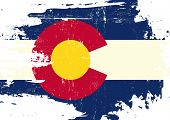 picture of scratch  - Scratched Colorado Flag - JPG