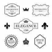 stock photo of fleur de lis  - Set of calligraphic flourish design elements  - JPG