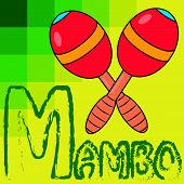 stock photo of maracas  - Illustration of two Maracas with Yellow Background - JPG