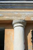 image of academia  - fragment of ancient column of a historic building close - JPG
