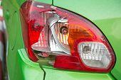 stock photo of emergency light  - Broken car rear lights - JPG
