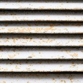 picture of ventilator  - White rusty ventilation shaft - JPG