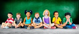 picture of diversity  - Kids Children Diversity Happiness Group Education Concept - JPG