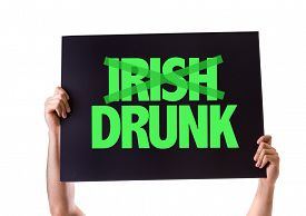 image of irish  - Irish Drunk card isolated on white - JPG