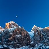 pic of italian alps  - a windy winter evening in the italian alps - JPG