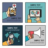 stock photo of sms  - Set of Flat Vector Business Illustrations - JPG