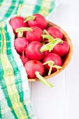 picture of radish  - radishes on a white background wooden boards - JPG