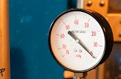 stock photo of vacuum pump  - The industrial vacuum gauge for measurement of pressure - JPG