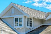 picture of nice house  - The roof of the house with nice window - JPG