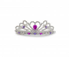 pic of princess crown  - Silver princess crown isolated on white background - JPG