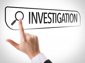 image of investigation  - Investigation written in search bar on virtual screen - JPG