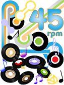 Постер, плакат: Классический рок твердых золото oldies на 45 RPM рок музыки records
