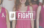 Health Awareness Cure Breast Cancer poster