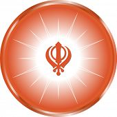pic of khanda  - The Khanda is one of most important symbols of Sikhism alongside the Ik Onkar  - JPG