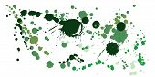 Paint Stains Grunge Background Vector. Trendy Ink Splatter, Spray Blots, Mud Spot Elements, Wall Gra poster