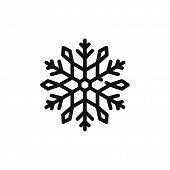 Snowflake Icon Isolated On White Background. Snowflake Icon In Trendy Design Style. Snowflake Vector poster