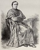 foto of bonaparte  - Portrait of  Lucien Louis Joseph Napoleon Cardinal Bonaparte - JPG