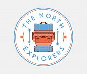 The North Explorers Is A Vector Illustration About Discovering And Exploring poster