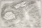 picture of bonaparte  - Old map of Fiji islands - JPG