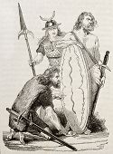 picture of gaul  - Gaul warriors old illustration - JPG