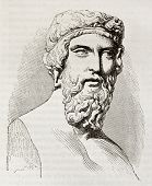Plato, the famous, classical Greek philosopher, bust kept in Louvre museum. By unidentified author,