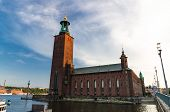 Stockholm City Hall (stadshuset) Tower Building Of Municipal Council And Venue Of Nobel Prize On Kun poster