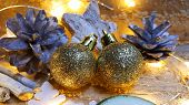 Christmas Decoration. Warm And Cozy Atmosphere. Christmas And New Year Theme. poster