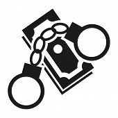 Bribery Money Handcuffs Icon. Simple Illustration Of Bribery Money Handcuffs Icon For Web Design Iso poster