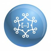 Complex Chemical Formula Icon. Simple Illustration Of Complex Chemical Formula Vector Icon For Web D poster