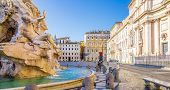 View Of Navona Square, Piazza Navona In Rome, Italy. Rome Architecture And Landmark. Piazza Navona I poster