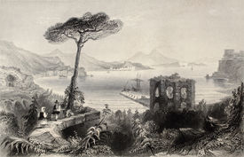 stock photo of luigi  - Antique illustration of  Naples bay - JPG