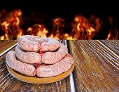 picture of creole  - Prepared a Creole sausage dish for barbecue - JPG