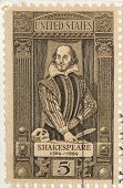 Vintage 1964 Stamp Shakespeare