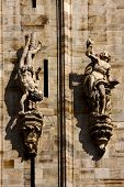 picture of castello brown  - statue in the front of the milan duomo - JPG
