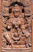foto of lakshmi  - Wooden Statue of Hindu Goddess Lakshmi Devi - JPG
